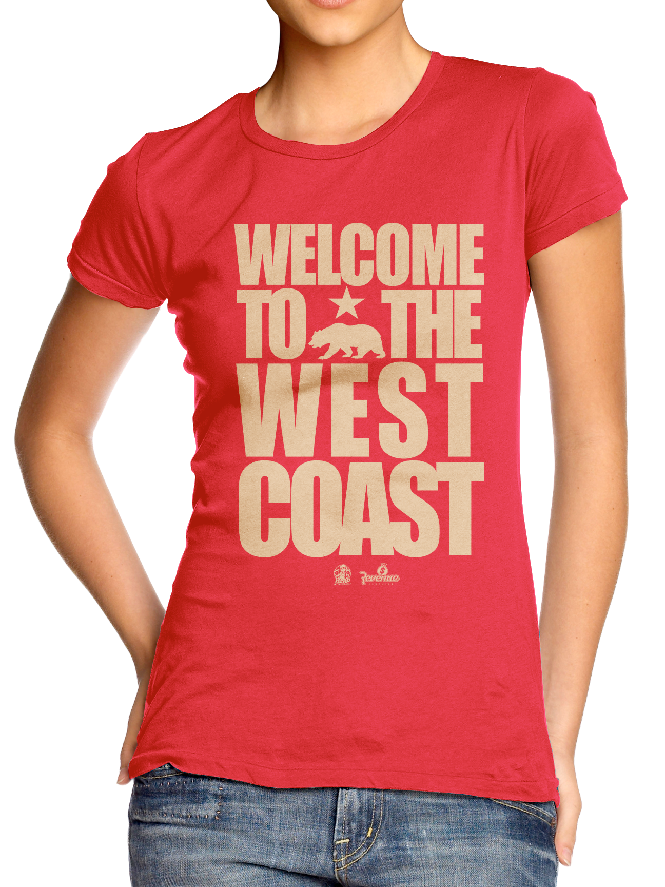 Welcome To The West Coast Red/Gold T-Shirt (Pre-Order)